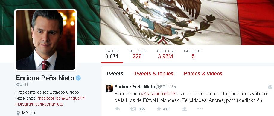 Enrique Peña Nieto   EPN    Twitter
