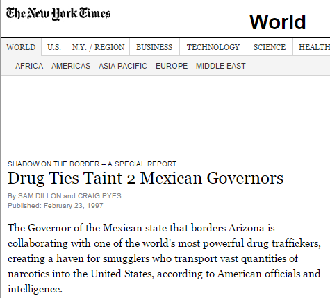 Drug Ties Taint 2 Mexican Governors   NYTimes.com