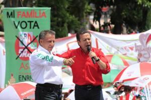 Cierre de campaña Agüera y Cesar Camacho