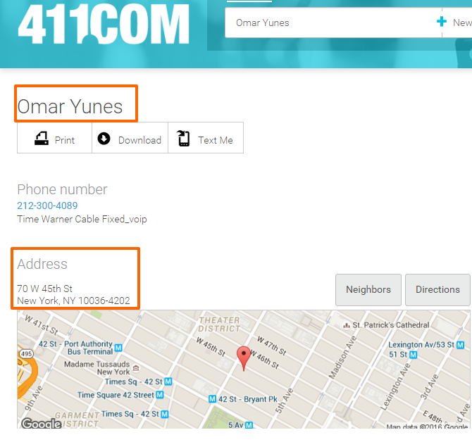 Free people search and contact details for Omar Yunes   411