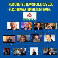 """La lista de periodistas """"Huachicoleros"""" que succionaban dinero de PEMEX a través de sus sitios de internet"""