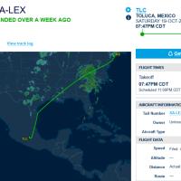 A 72 horas de su renuncia al sindicato, avión privado del hijo de Romero Deschamps voló de Toluca a Nueva York