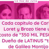 """Cada capitulo de Carlos Loret y Brozo cuesta""""350 mil pesos""""; Dueño de LATINUS """"tío"""" de Galilea Montijo"""