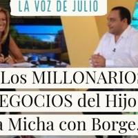 Los MILLONARIOS NEGOCIOS del Hijo de Adela Micha con Borge, Javier Duarte, Eruviel Avila y Moreira