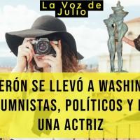 Calderón se llevó a Washington a turistear a columnistas, políticos y hasta una actriz