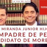 ¿Luis Miranda junior hijo del compadre de Peña, candidato de MORENA?