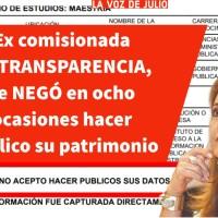 . @MElenaPerezJaen ex comisionada de TRANSPARENCIA, se NEGÓ en ocho ocasiones hacer público su patrimonio