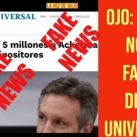 ¡Ver para creer!¡Mega Nota FALSA de @El_Universal! #INFODEMIA