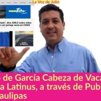 Gobierno del Panista Cabeza de Vaca, le mete DINERO a @atinus_us, a través de Publicidad Oficial