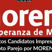 ¿Con estos Candidatos Impresentables, Voto Parejo por MORENA?