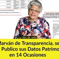 Anti-AMLO y Presidenta de Transparencia @MarvanMaria, se Negó a Hacer Publico sus Datos Patrimoniales 14 Veces