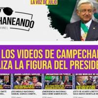 72% de los Videos de @Edd_Campe Campechaneando, Utiliza la Figura del Presidente
